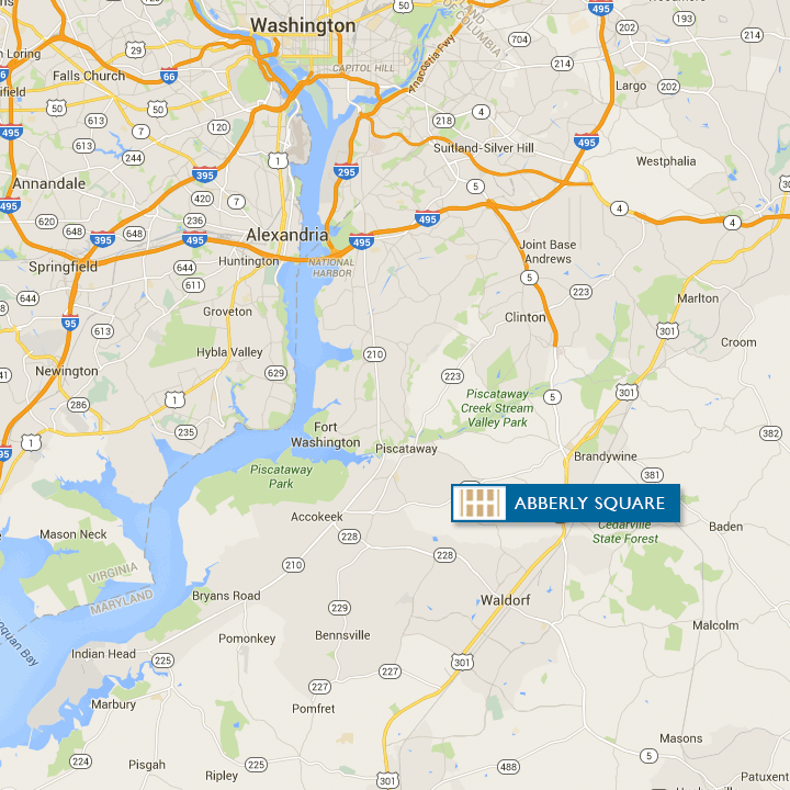 Waldorf, Md Apartment Living Map